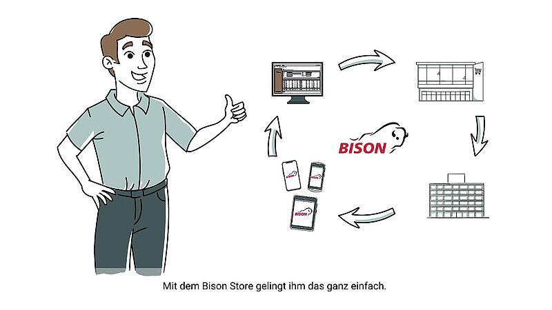 Video link: Bison Store - Erklärvideo