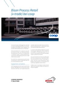 """2005 entschied sich die coop eG für eine Modernisierung ihres Warenwirtschaftssystems und führte Bison Process Retail von Bison deutschland ein, weil """"damit unsere Kernprozesse in einer flexiblen,  überschaubaren und anpassbaren Softwarelösung abgebildet werden""""."""