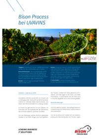 Die flexible und moderne Warenwirtschaftslösung von Bison konnte UVAVINS überzeugen das bestehende System abzulösen. Die Lösung Bison Process wurde von Bison gemeinsam mit UVAVINS und dem Partner T2i mit den branchenspezifischen Prozessen erweitert.
